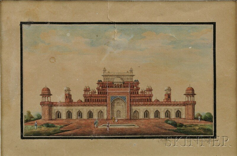 1: Watercolor on Paper, India, 17th century, depicting