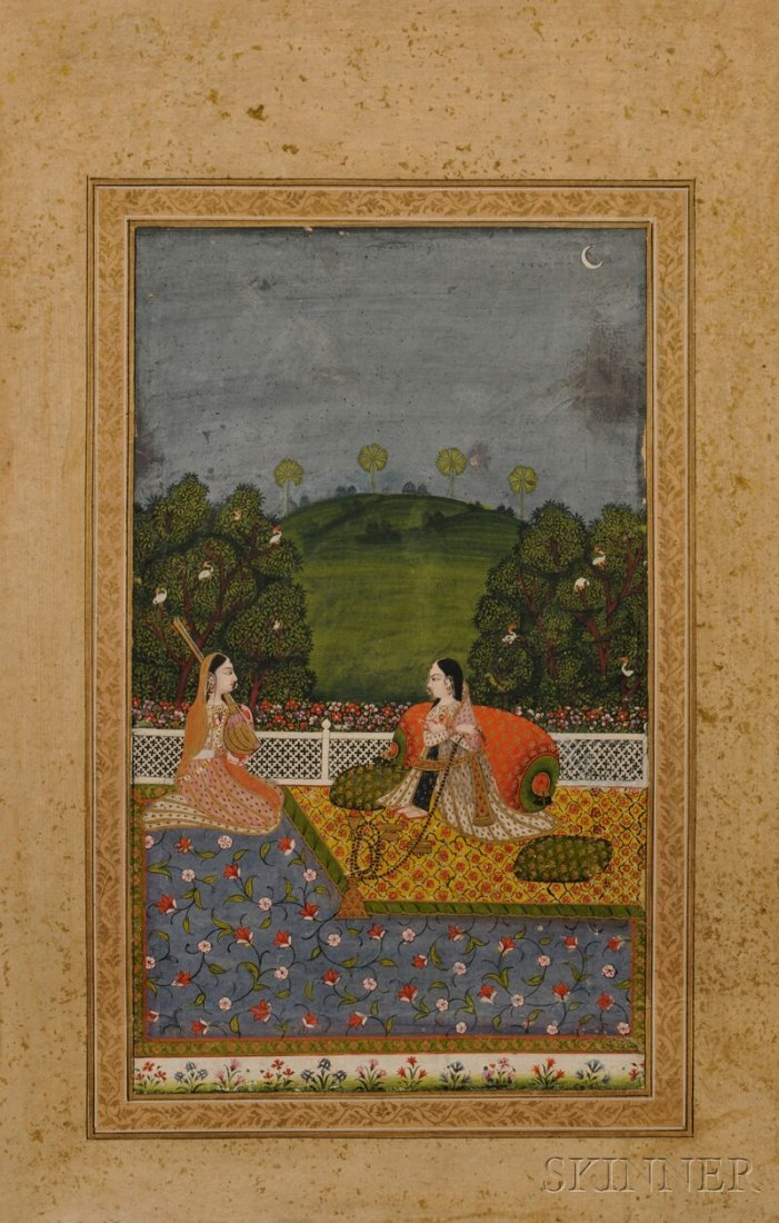 3: Mughal Painting, India, 18th century, gouache on pap