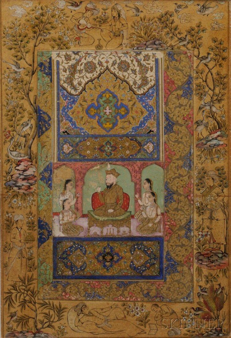 4: Miniature Painting, Persia, 17th century, depicting