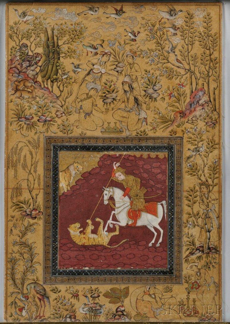 5: Miniature Painting, Persia, 17th century, depicting