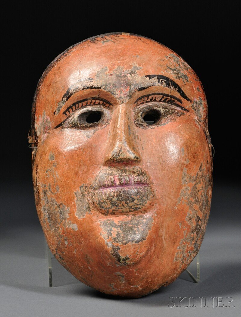 14: Raj Bangshi Mask, India, carved from a single piece