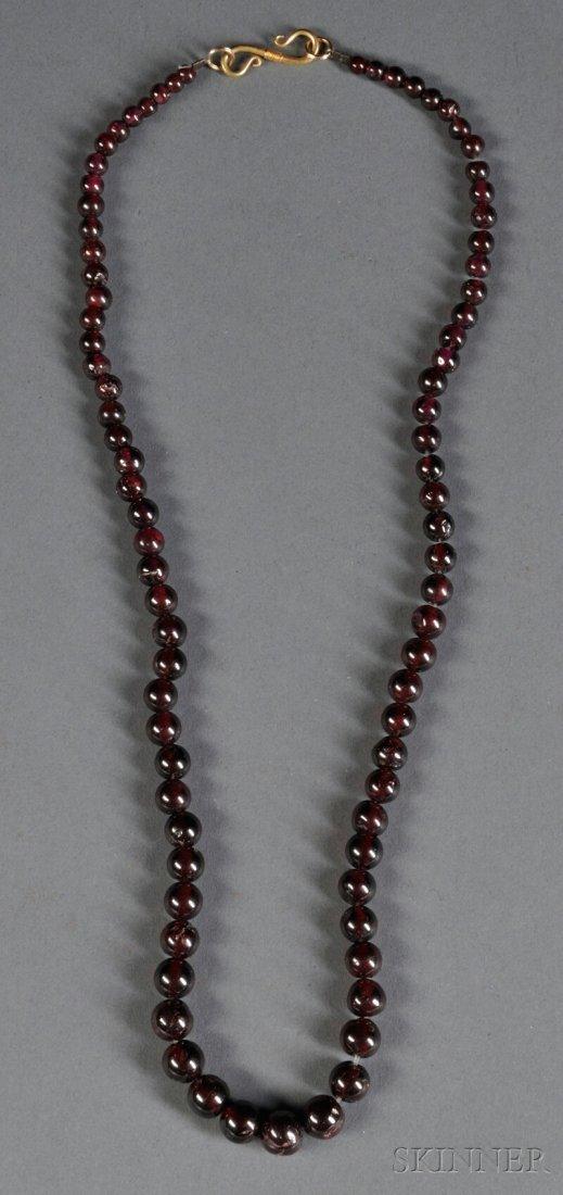 16: Beaded Carnelian Necklace, c. 1st millennium B.C.,