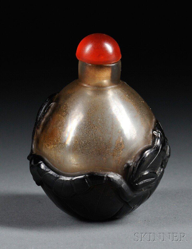 446: Glass Snuff Bottle, China, 19th century, globular