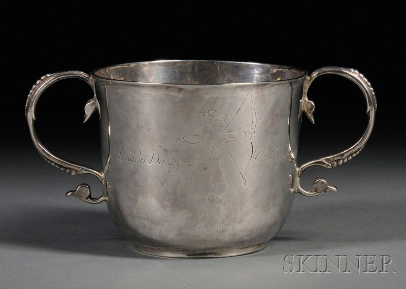 1: James II Silver Two-handled Cup, London, 1688-89, in