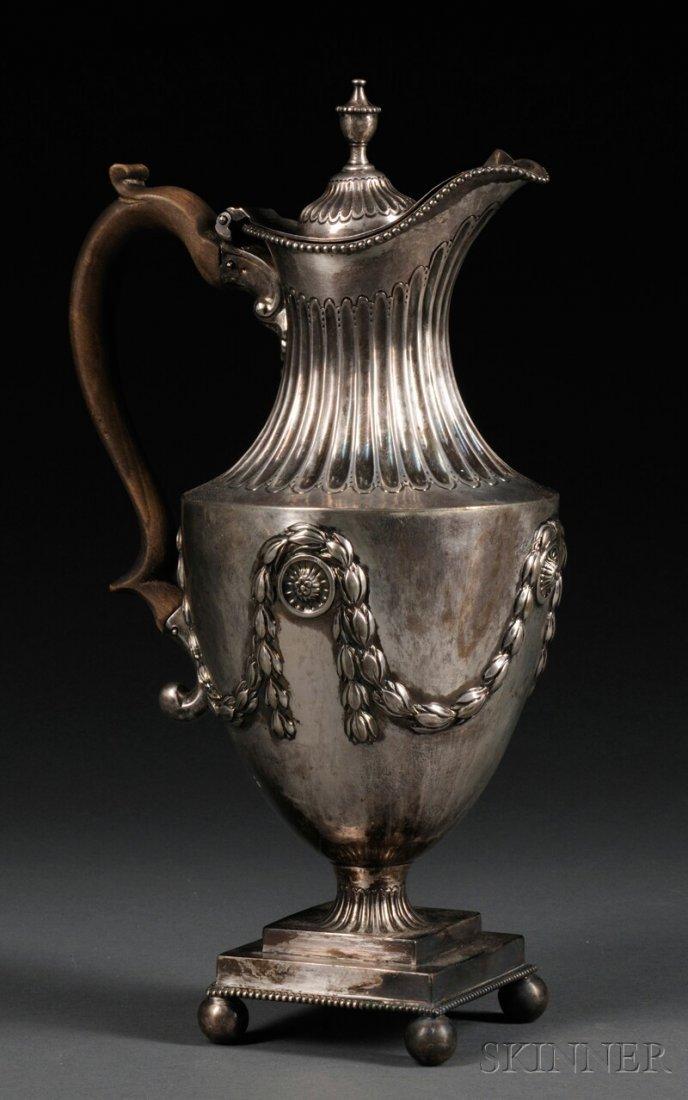 16: George III Silver Coffeepot, London, 1775, maker's