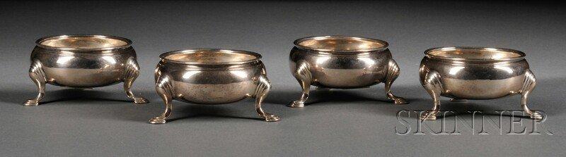 17: Set of Four English Salts, London, late 18th centur