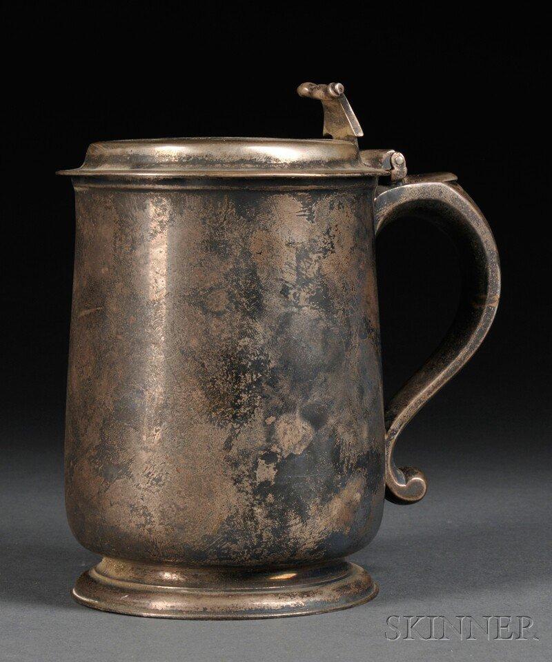 20: George III Sterling Silver Flat-top Tankard, London