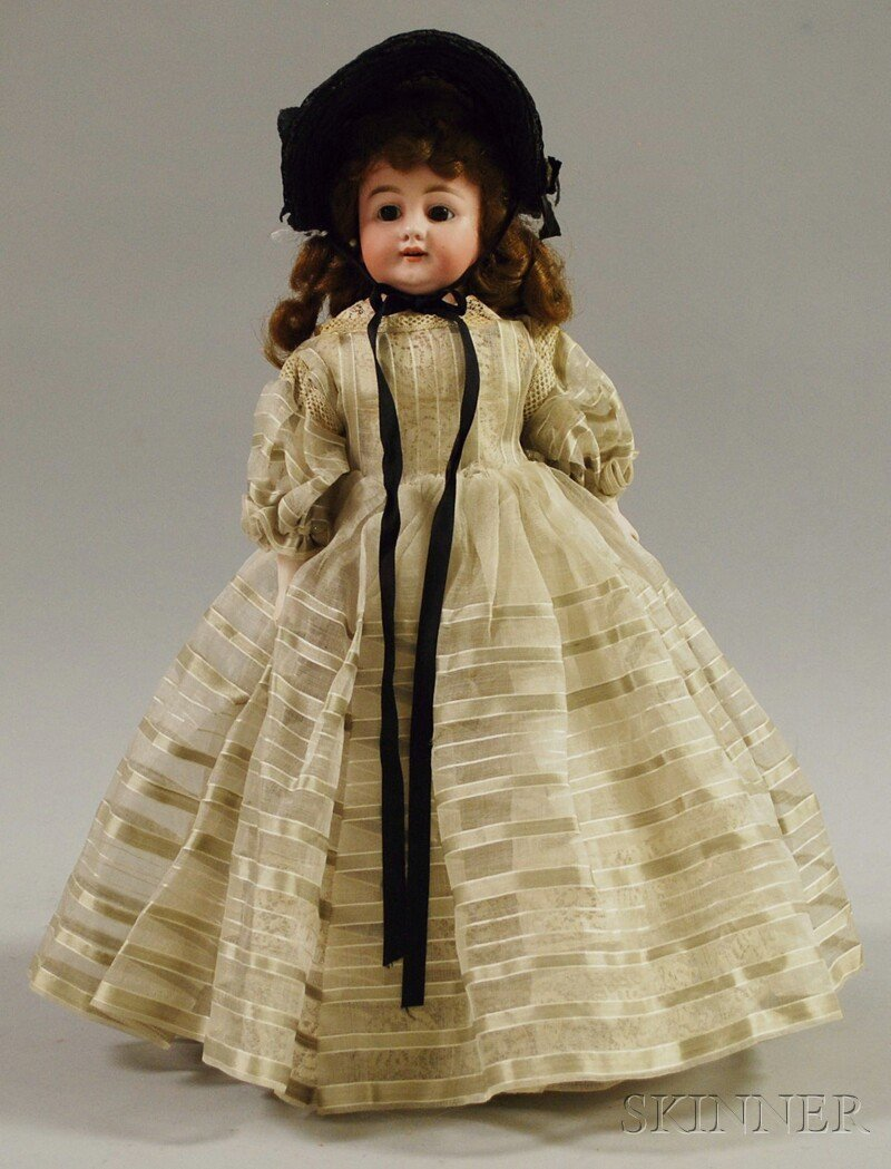 2: Early Simon Halbig Bisque Shoulder Head Doll, German