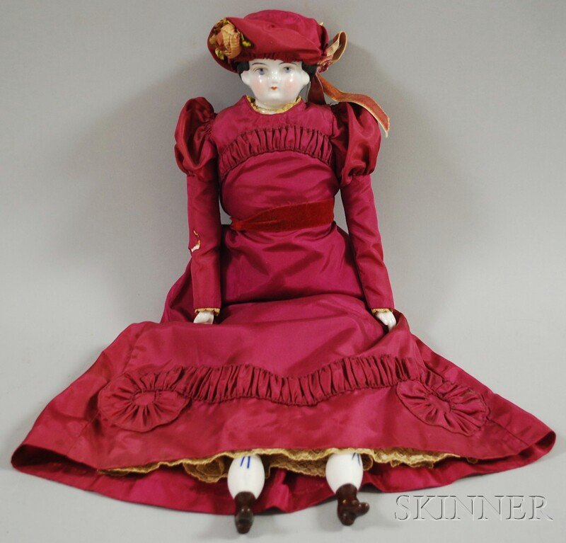 4: China Shoulder Head Doll, Germany, pale blue painted