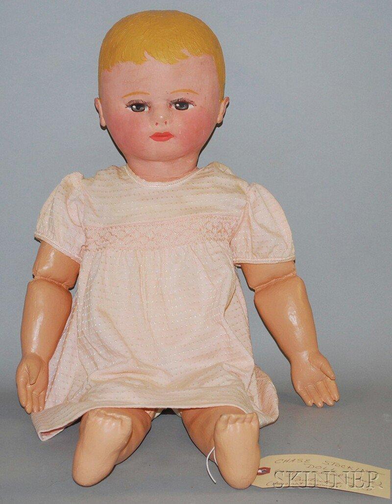 8: Chase Stockinet Doll, Pawtucket, Rhode Island, dark
