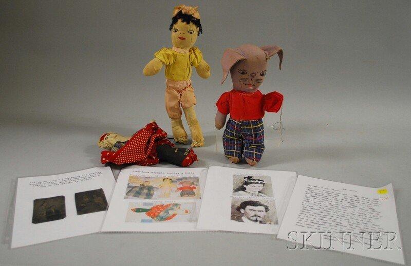 10: Three Handmade Folk Dolls with Provenance, known in