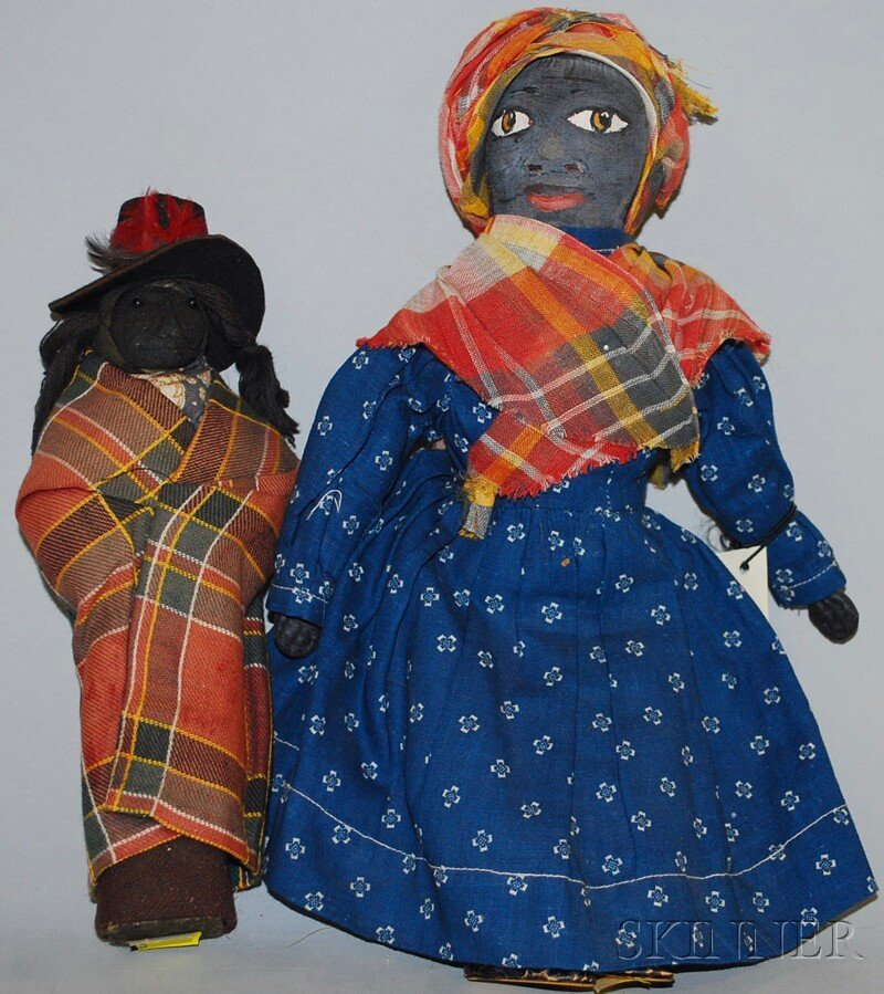 11: Witherspoon Painted Rag Doll and Black Man, painted