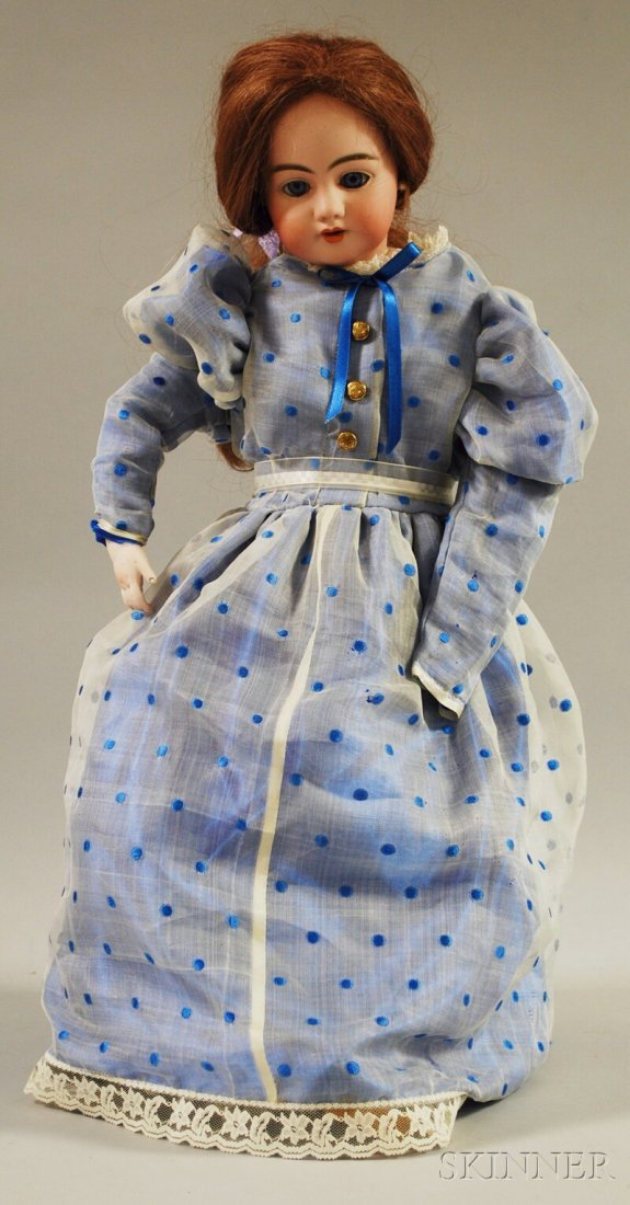 23: Large Simon Halbig 1009 Doll, Germany, blue sleepin