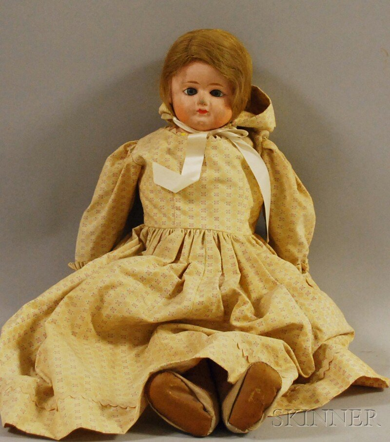 24: Large Composition Shoulder Head Doll, Germany, late