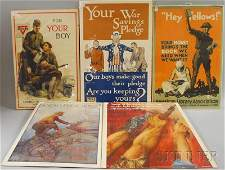 301: Five WWI Lithograph Posters, John E. Sheridan, Hey