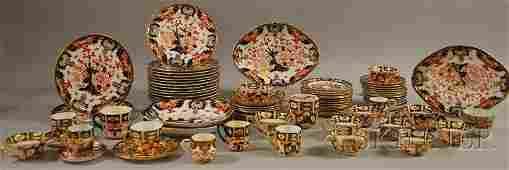685 Seventysix Assembled Pieces of Crown Derby Imari