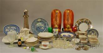 724 Group of Table and Decorative Items including a p