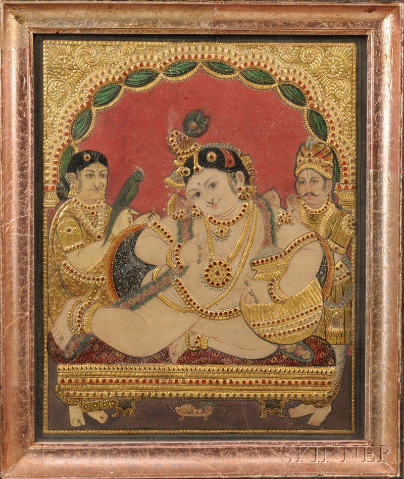 5: Tanjore Painting, southern India, 18th/19th century,