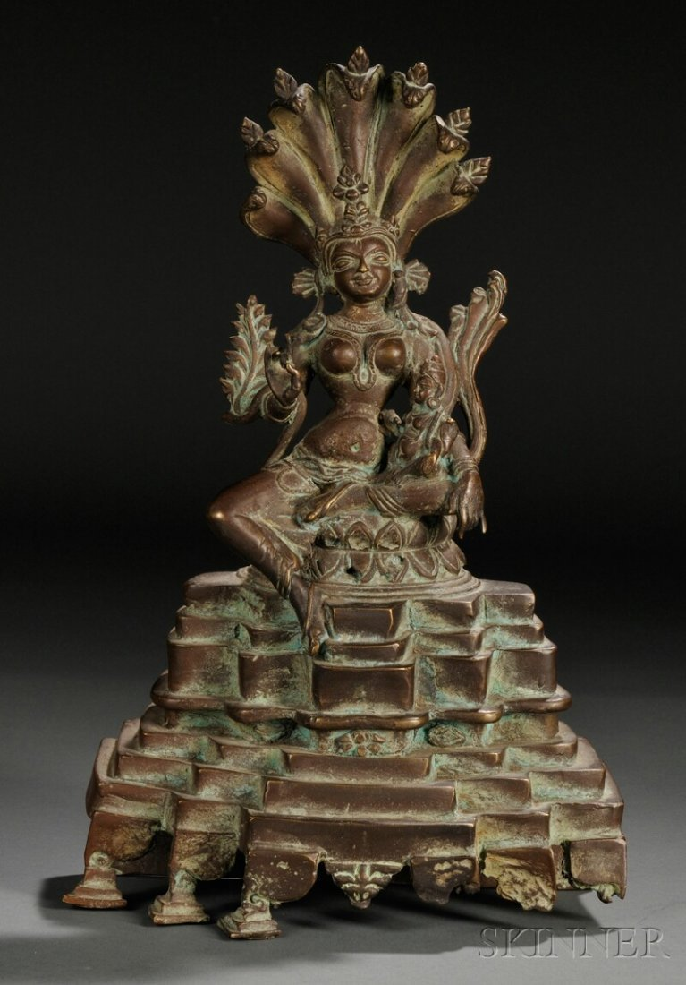 7: Bronze Figure, eastern India, 20th century, depictin
