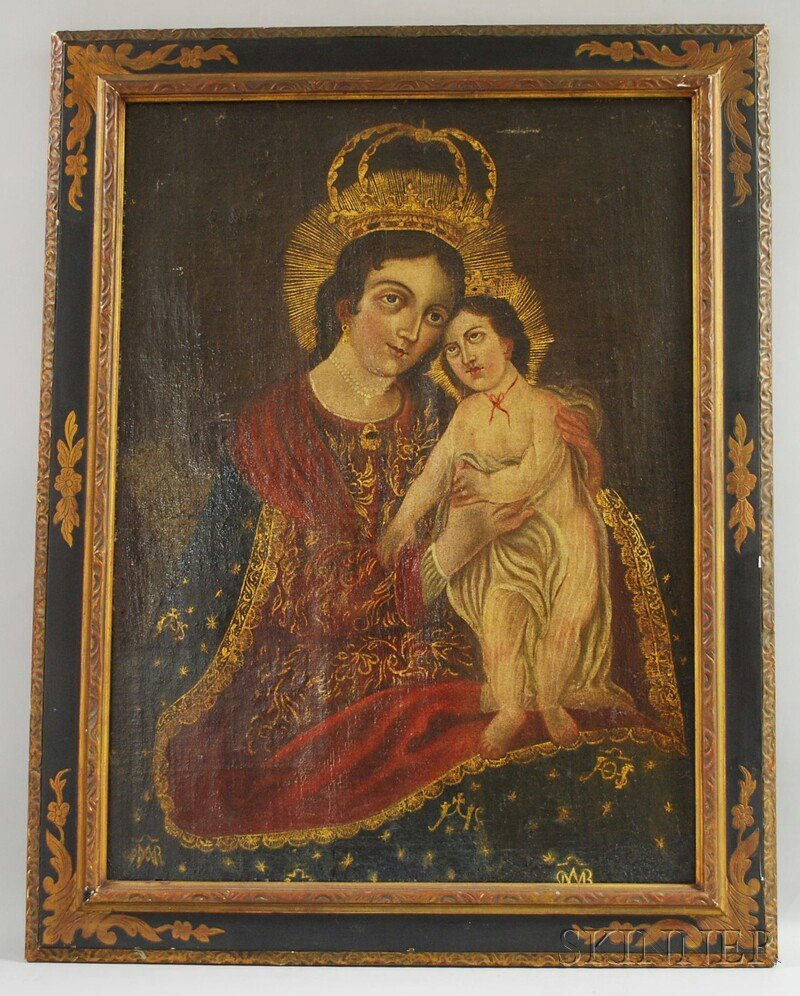 16: Spanish Colonial School, 18th/19th Century Madonna