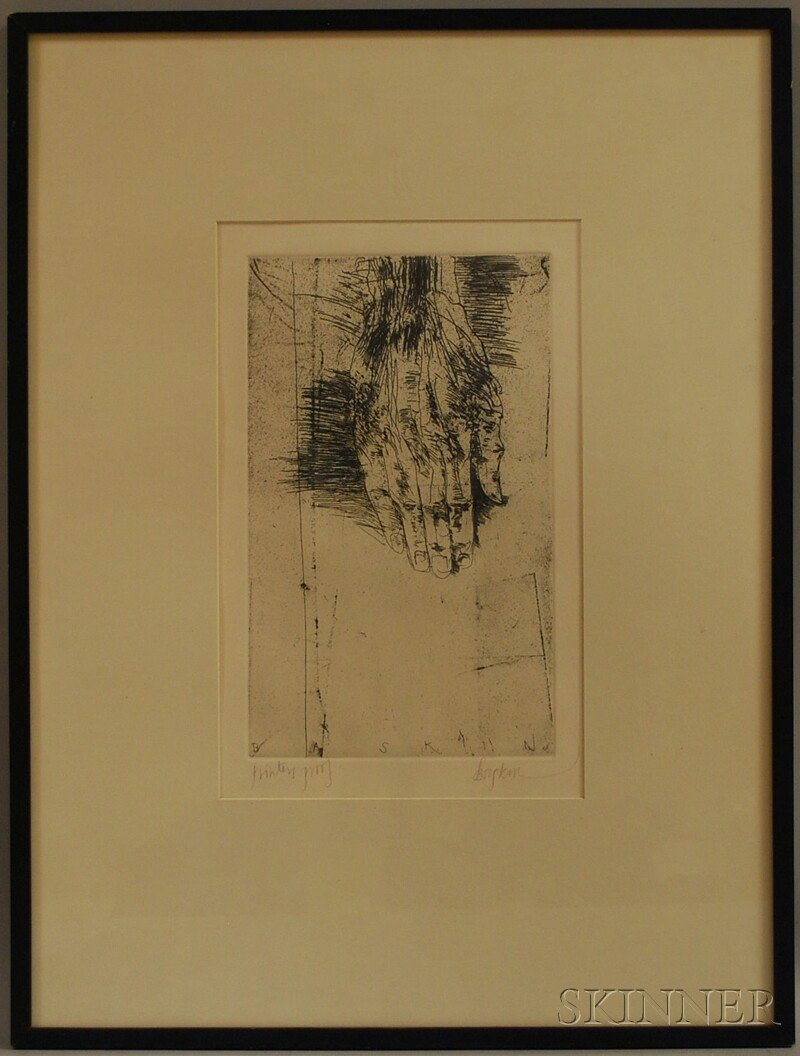 395: Leonard Baskin (American, 1922-2000) Titus Androni