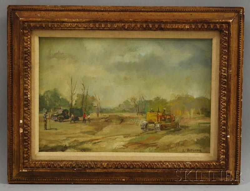 435: Louis George Bouche (American, 1896-1969) Bulldoze