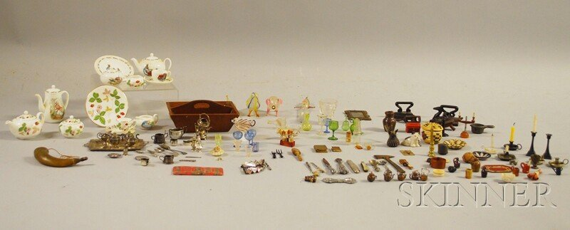 508: Group of Assorted Miniature Silver, Metal, Ceramic