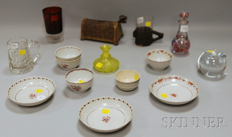 511: Group of Assorted Porcelain Teaware, Decorative Gl
