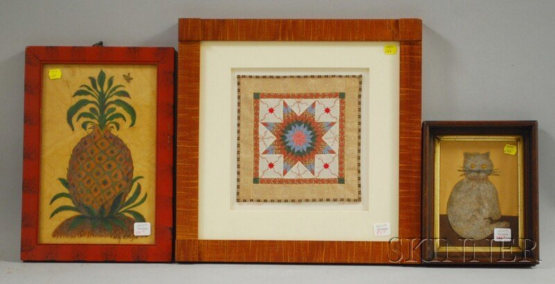 515: Three Assorted Contemporary Country Items, a frame