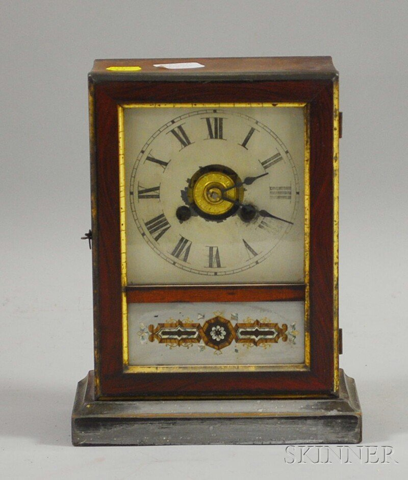 520: Rosewood Grained and Partial-gilt Cottage Clock, C