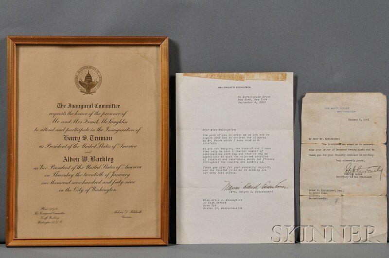 4: American Presidents, Four Documents:  Invitations to
