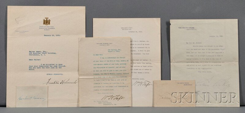 5: American Presidents, Four Signed Letters, Two Signat