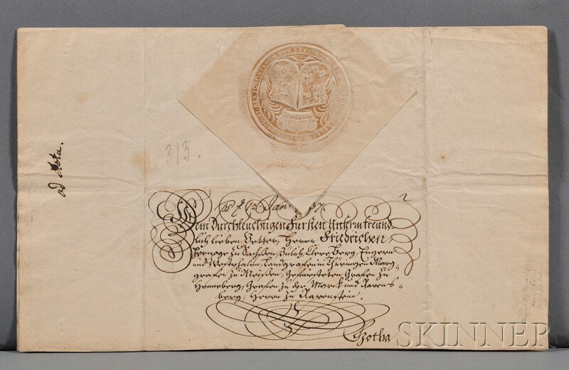 6: Augustus III of Poland (1696-1763) Signed Letter and