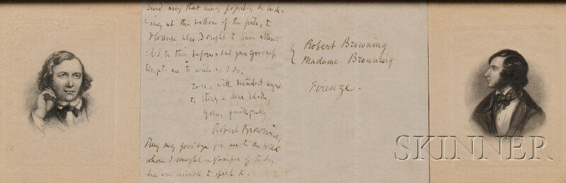 8A: Browning, Robert (1812-1889) Autograph Letter Signe
