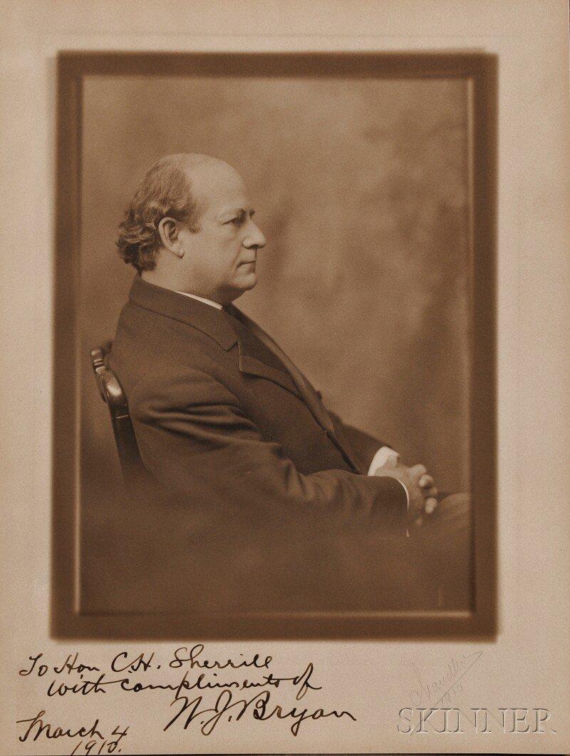9: Bryan, William Jennings (1860-1925) Signed Photograp