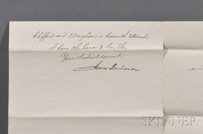 10: Buchanan, James (1791-1868) Autograph Letter Signed