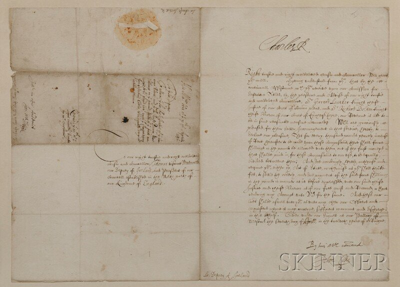 15: Charles I of England (1600-1649) Document Signed, 7