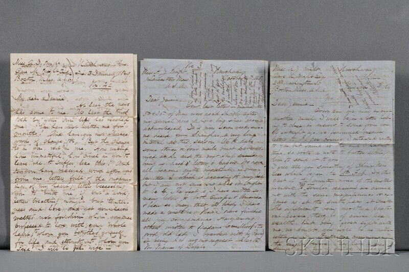 16: China, Correspondence c. 1860. Ten letters total; s
