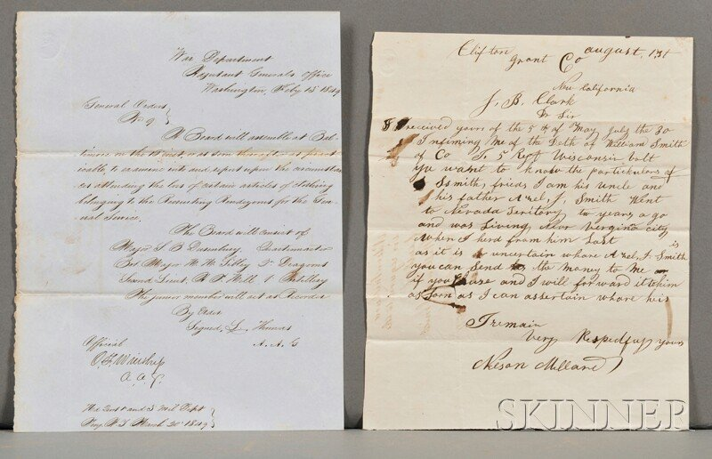 18: Civil War Documents.  Archive of approximately thir