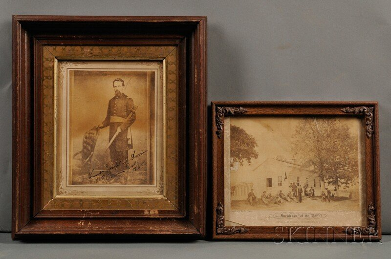 20: Civil War Photographs. Six images of soldiers muste
