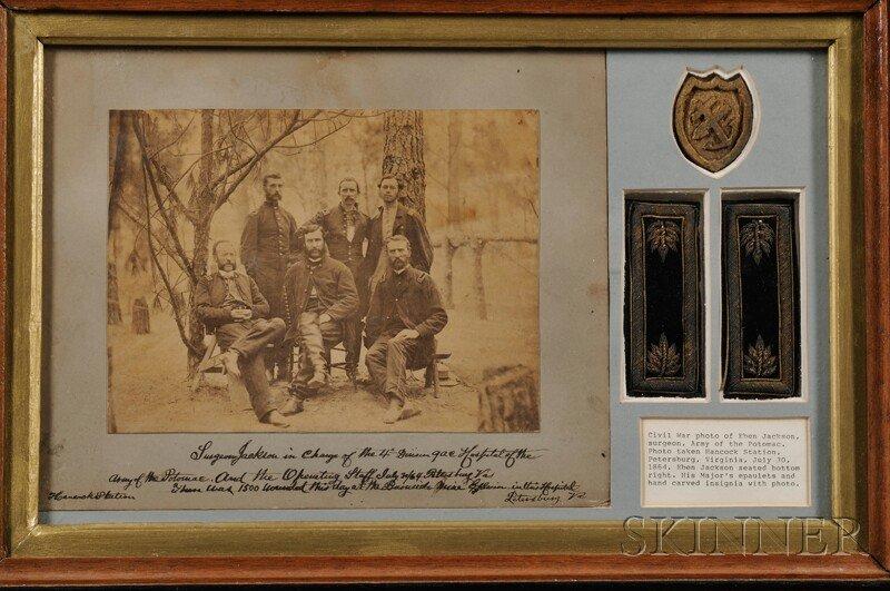 21: Civil War, Eben Jackson, Framed Photograph and Epau