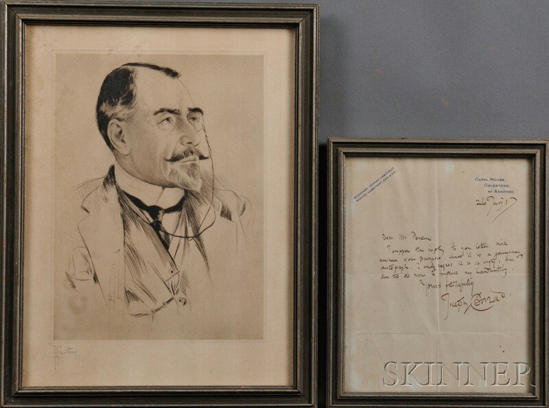 23: Conrad, Joseph (1857-1924) Autographed Letter Signe