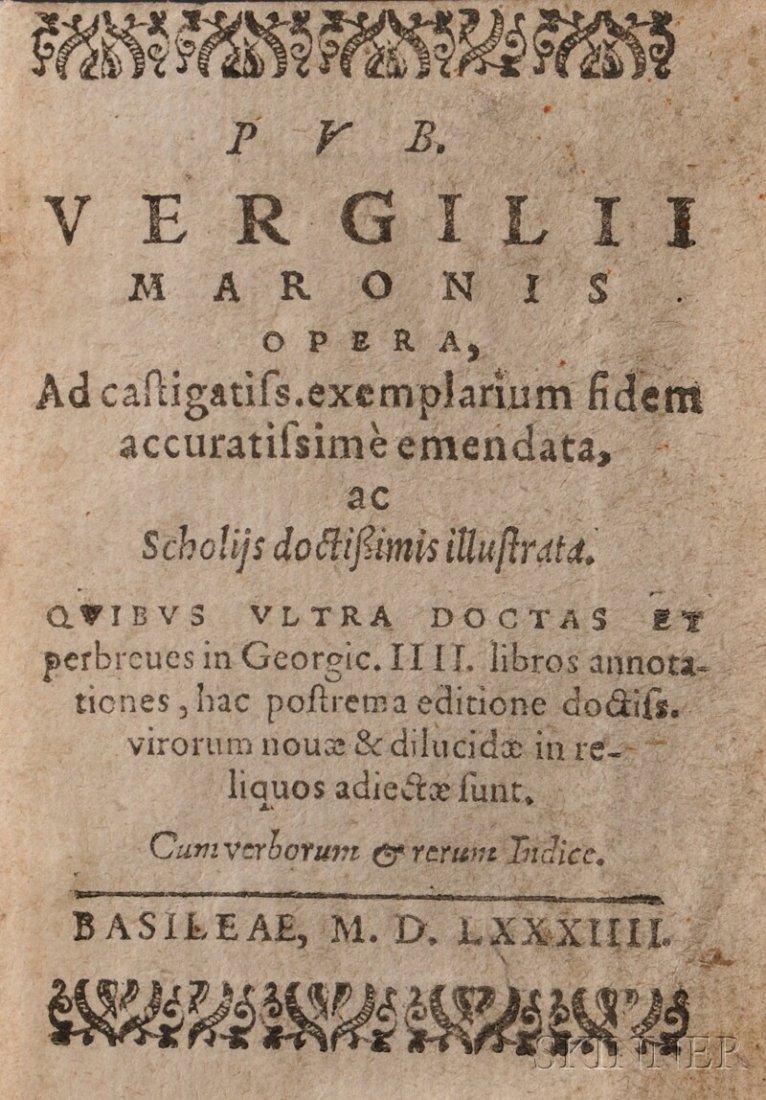 499: Virgil (70 BC-19 BC) Opera. Basel: [No Printer], 1