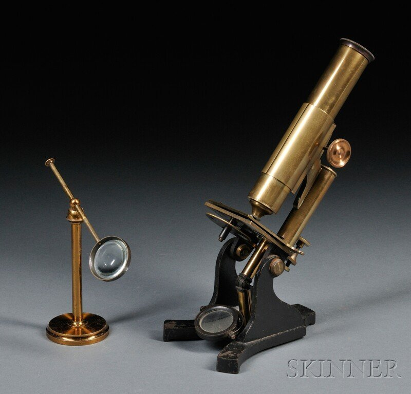21: Brass and Iron Microscope with Freestanding Condens