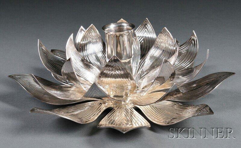 13: , Henry Petzal Silversmith (1906-2002) Candleholder