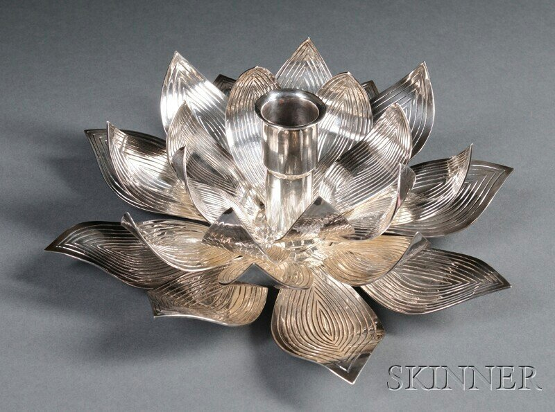 14: , Henry Petzal Silversmith (1906-2002) Candleholder