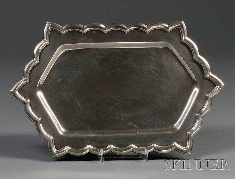 19: , Henry Petzal Silversmith (1906-2002) Tray with Si