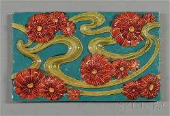 112  Zsolnay Architectural Tile Art pottery Majolic