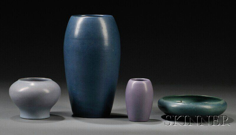 , Four Pieces of Marblehead Pottery, Art pottery,
