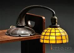285: , Handel Mosaic Glass Piano Lamp, Slag glass and p